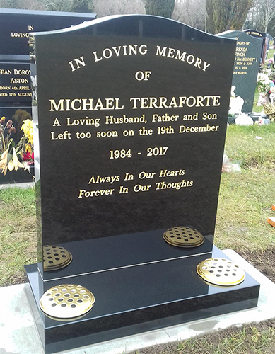 Black Granite Headstones | Thanet Stone
